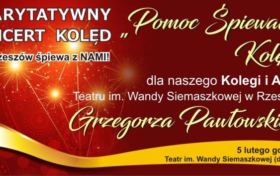 Koncert charytatywny dla aktora Grzegorza Pawłowskiego