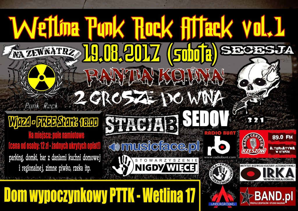 plakat Wetlina punk rock attack 19.08