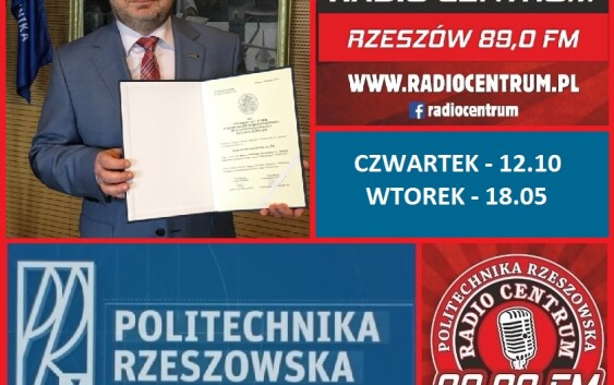 Rektor Elekt PRz na antenie Radio Centrum