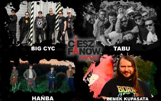 """Line-up festiwalu w kompleksie """"Wędrowiec"""""""